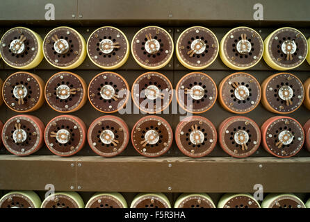 Bletchley Park bombe code cracking decryption machine used to break the German military enigma codes in WWII - Stock Photo