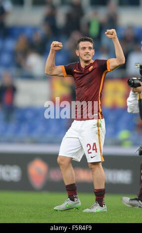 Rome, Italy. 8th November, 2015. Alessandro Florenzi during the Italian Serie A football match A.S. Roma vs S.S. - Stock Photo
