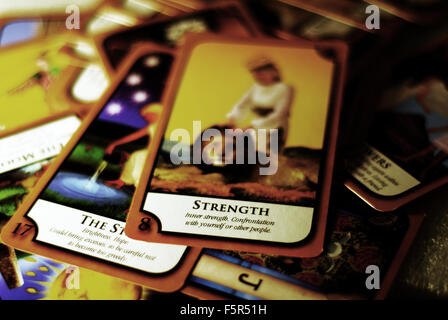 tarot,cards,death,fortune teller, reading,psychic - Stock Photo