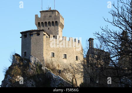 Rocca della Guaita, the most ancient fortress of San Marino Republic - Stock Photo
