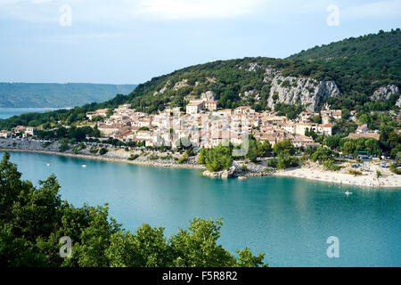 View on Bauduen at the lake of Sainte Croix, Var, France - Stock Photo