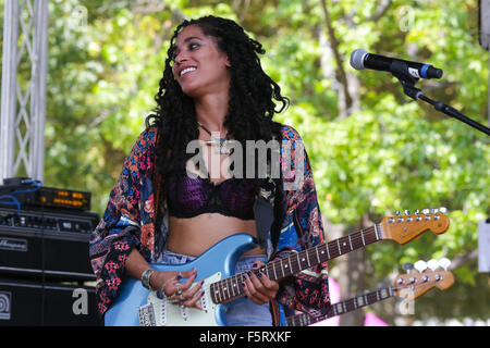 2015 Budweiser Made In America - Performances - Day 1  Featuring: Mayaeni Where: Philadelphia, Pennsylvania, United - Stock Photo