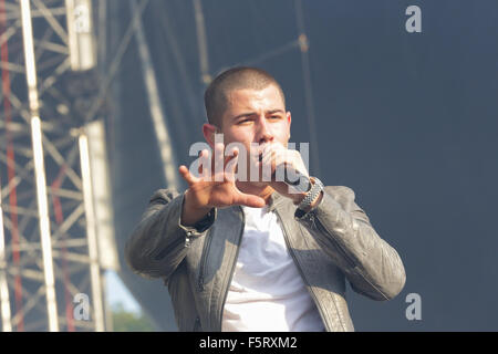 2015 Budweiser Made In America - Performances - Day 1  Featuring: Nick Jonas Where: Philadelphia, Pennsylvania, - Stock Photo