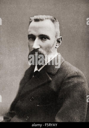 Pierre Curie, 1859 – 1906.  French physicist, a pioneer in crystallography, magnetism, piezoelectricity and radioactivity. - Stock Photo