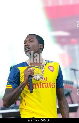 2015 Budweiser Made In America - Performances - Day 1  Featuring: Meek Mill Where: Philadelphia, Pennsylvania, United - Stock Photo