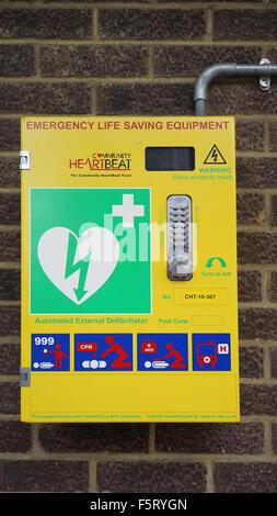 Emergency Life Saving Defibrillator Equipment -1 - Stock Photo