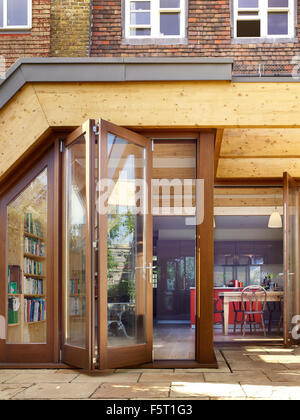 Architect Tate · Detail of timber frame of extension with concertina doors. Wendell Rd London United & Timber frame of extension with concertina doors. Wendell Rd ...