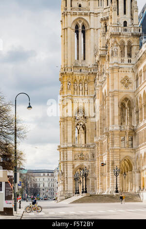 Austria, Vienna, View of Vienna City Hall - Stock Photo