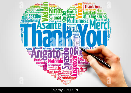 Thank You in many languages - Stock Photo