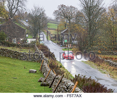 Holwick, Middleton-in-Teesdale, Co Durham, UK 9th November 2015 Strong winds and heavy rain continue in Upper Teesdale - Stock Photo