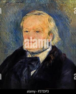 Richard Wagner 1882 Pierre Auguste Renoir 1841-1919 French Impressionist France ( Wilhelm Richard Wagner  1813 –  1883 German composer opera concert music )