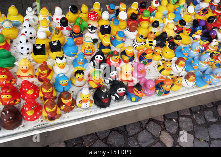 Rubber Duckies in a store - Stock Photo