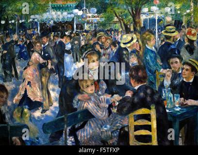 Bal du moulin de la Galette1876 Pierre Auguste Renoir 1841-1919 French Impressionist France - Stock Photo
