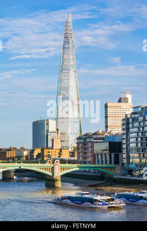 The Shard London City of London South bank southwark England UK GB EU Europe - Stock Photo