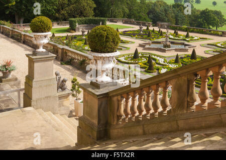 The Terrace Garden At Harewood House In West Yorkshire, UK. One Of The Ten