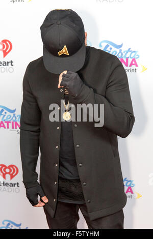Miami, Florida, USA. 7th Nov, 2015. Singer WISIN attends the iHeartRadio Fiesta Latina concert at American Airlines - Stock Photo