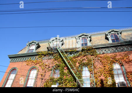 cold spring village new york in fall - Stock Photo