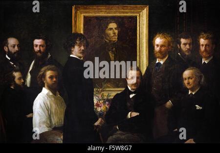 Hommage à ( Tribute to ) Delacroix 1864 Henri Fantin Latour 1836-1904 France French - Stock Photo