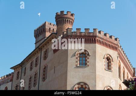 Piedmont, Italy, Langhe-Roero and Monferrato in the  UNESCO World Heritage List: the castle of Barolo. - Stock Photo