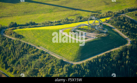 'Tiger & Turtle - Magic Mountain' landmark on a heap in Duisburg-Huckingen, Duisburg, Ruhr area, Nordrhein-Westfalen, Germany, Stock Photo