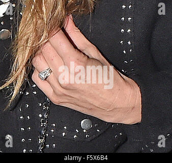 Kate Moss at Hotel Chantelle wearing her wedding ring Featuring