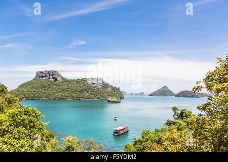 Ang Thong Marine National Park is an archipelago containing 42 stunning island near Ko Samui, Ko Tao and Ko Phan - Stock Photo