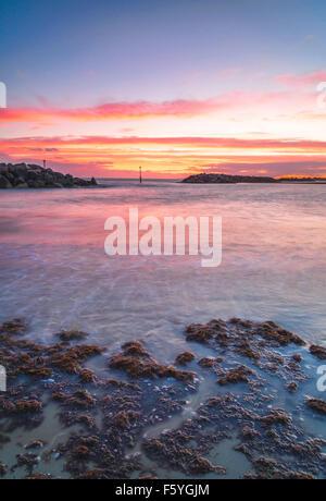 Sunset Middleton on sea - Stock Photo
