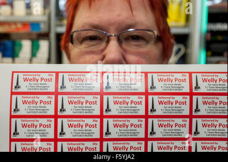 The Welly Post , Wellington , Somerset . Local newsagents Lorraine Lettley 62 and daughter Trish 37 [ not pictured] - Stock Photo