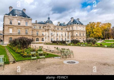 Le Palais du Luxembourg in Paris, France - Stock Photo