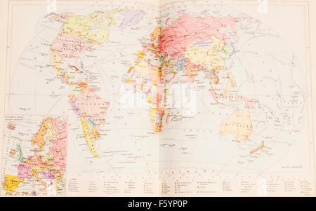 Political World Map - Stock Photo