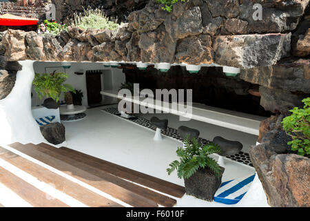 Jameos del Agua, Lanzarote in the Canary Islands, Spain - Stock Photo