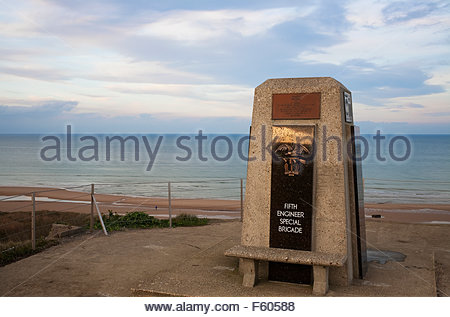 Monument at Omaha Beach, Normandy, France. - Stock Photo