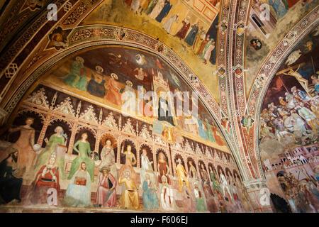 The Triumph of St. Thomas Aquinas The Spanish Chapel,Santa maria Novella,by Andrea di Bonaiuto (1365-1367) - Stock Photo