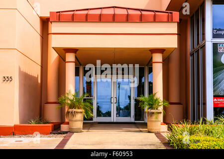 Entrance to the St. Petersburg Museum of History on 2nd Ave in this Florida city - Stock Photo