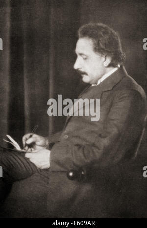 Albert Einstein, 1879 – 1955.  German-born theoretical physicist. He developed the general theory of relativity. - Stock Photo