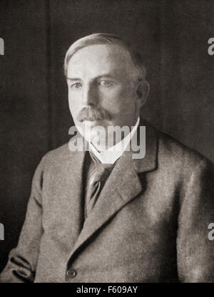 Ernest Rutherford, 1st Baron Rutherford of Nelson, 1871 – 1937.  New Zealand-born British physicist. - Stock Photo
