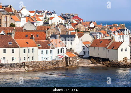 Traditional buildings in the small fishing village of Pittenweem in the East Neuk of Fife, Scotland UK - Stock Photo
