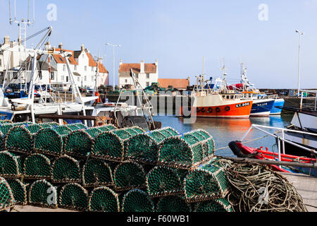 The harbourfront in the fishing village of Pittenweem in the East Neuk of Fife, Scotland, UK - Stock Photo