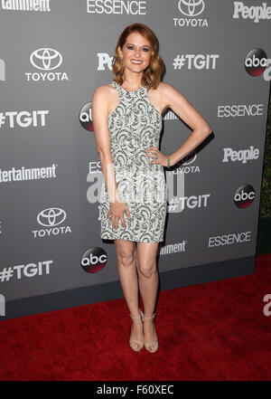 ABC's TGIT premiere event - Arrivals  Featuring: Sarah Drew Where: Los Angeles, California, United States When: - Stock Photo