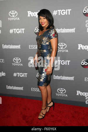 ABC's TGIT premiere event - Arrivals  Featuring: Sara Ramirez Where: Los Angeles, California, United States When: - Stock Photo