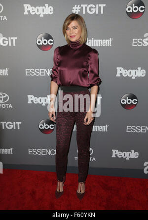 ABC's TGIT premiere event - Arrivals  Featuring: Ellen Pompeo Where: West Hollywood, California, United States When: - Stock Photo