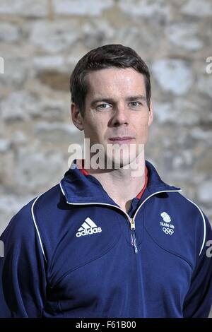Bisham Abbey, Marlow., Bucks, UK. 10th November, 2015. Tim Kneale (Mens Double Trap). TeamGB announcement of shooting - Stock Photo