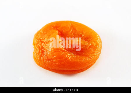 Dry fruits peach photographed close-up on a white background - Stock Photo