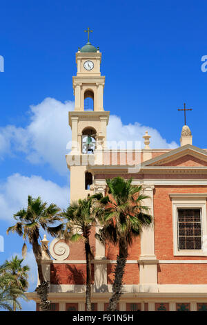 St. Peter's Church, Old Jaffa, Tel Aviv, Israel - Stock Photo