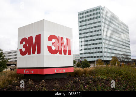 A logo sign outside of the headquarters of the 3M Company in St. Paul, Minnesota on October 24, 2015.