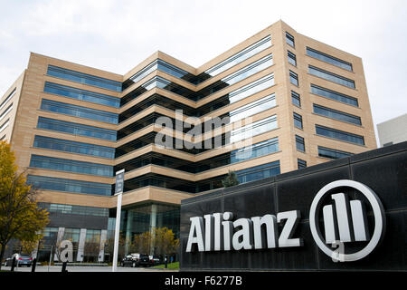 A logo sign outside of the headquarters of the Allianz Life Insurance Company of North America in Minneapolis, Minnesota - Stock Photo