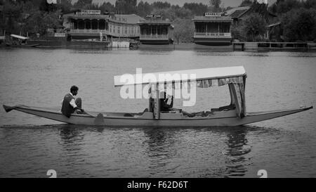 Lake Dal, Srinagar, Jammu and Kashmir, India - Stock Photo