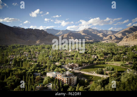 View in Leh, Ladakh, India - Stock Photo
