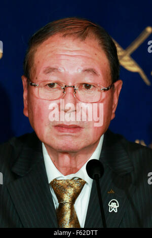 Tokyo, Japan. 10th Nov, 2015. Choe Okuno President of JA Zenchu (the Japanese Central Union of Agricultural Co-operatives) - Stock Photo