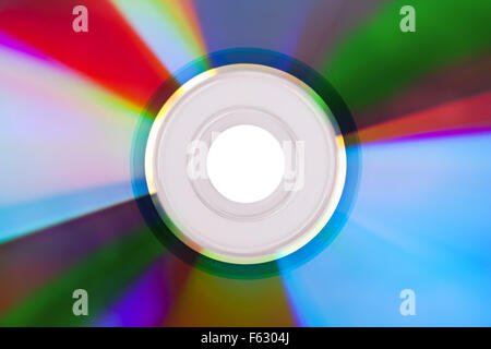 Close-up of colorful CD. Use for background or texture - Stock Photo